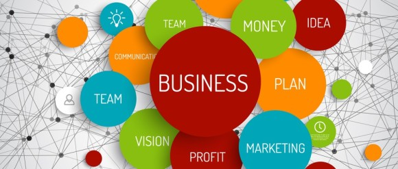 Vector Abstract Business infographic schema